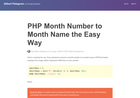 Screenshot of PHP Month Number to Month Name the Easy Way