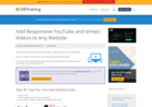 Screenshot of Add Responsive YouTube and Vimeo Videos to Any Website