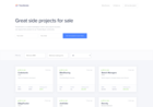 Screenshot of Transferslot — Buy and sell great side projects