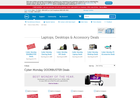 Screenshot of Dell special deals page