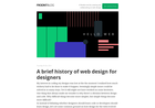 Screenshot of A brief history of web design for designers