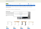 Screenshot of IKEA standing desks