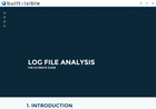 Screenshot of Log file analysis - the ultimate guide