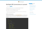Screenshot of Multiple DB Connections in Laravel