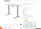 Screenshot of Furna E2 Electric Standing Desk - Sit Stand Desk
